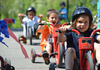 Pre-School Students Spin Wheels in Trike-A-Thon