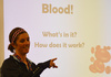 Visiting Doctor Teaches First Graders About Blood