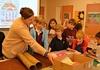 Collage Artist Venerus Visits Third Grade Classes